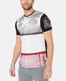 Buffalo David Bitton Men's Colorblocked Flag T-Shirt