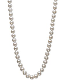 "Cultured Freshwater Pearl Strand 18"" Necklace (8-1/2-9-1/2mm) in 14k Gold"