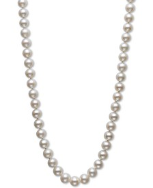 "Belle de Mer Cultured Freshwater Pearl Strand 18"" Necklace (8-1/2-9-1/2mm) in 14k Gold"