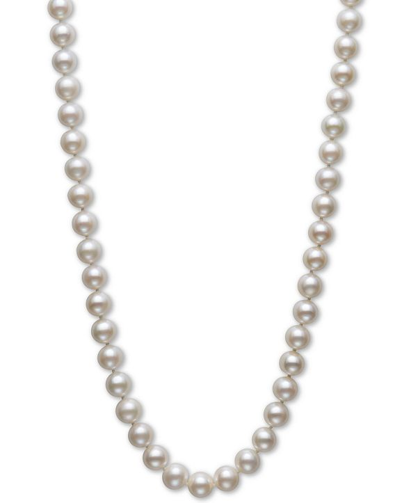 "Belle de Mer Cultured Freshwater Pearl Strand 18"" Necklace (8-1/2-9-1/2mm) in 14k Gold"