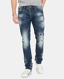 Buffalo David Bitton Men's Max-X Ripped Skinny Jeans