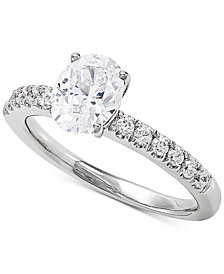 Grown With Love Lab Grown Diamond Engagement Ring (1-1/4 ct. t.w.) in 14k White Gold