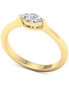Diamond Marquise Solitaire Ring (1/3 ct. t.w.) in 14k Gold