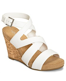 Silverplush Wedge Sandals