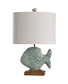 Nemo Blue 27in Coastal Cast Table Lamp