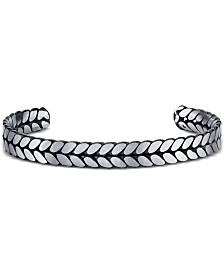 He Rocks Chain Design Cuff Bracelet In Stainless Steel