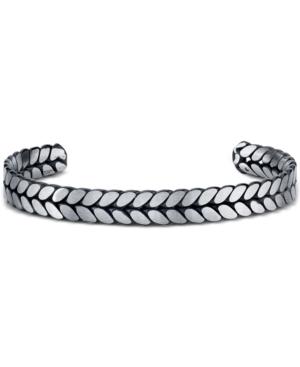 He Rocks Chain Design Cuff Bracelet In Stainless Steel