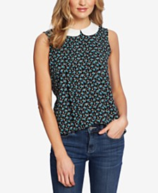 CeCe Floral-Print Sleeveless Top
