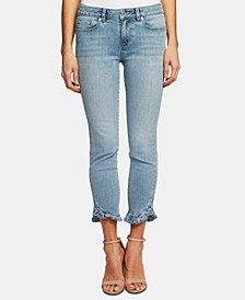 Skinny Ruffle Hem Jeans