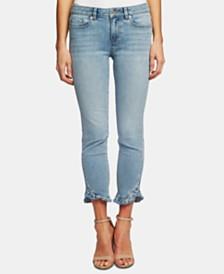 CeCe Skinny Ruffle Hem Jeans