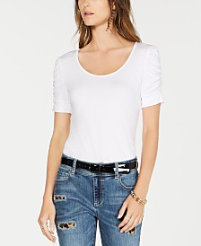 I.N.C. Ruched-Sleeve Top, Created for Macy's