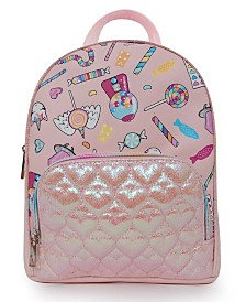 Candy Printed with Quilted Pocket Mini Backpack