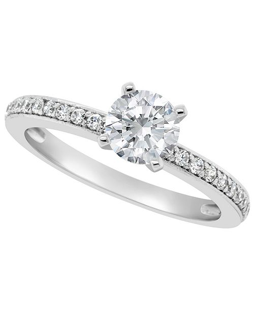 Macy's Certified Round Diamond Engagement Ring (1 ct. t.w.) in Platinum