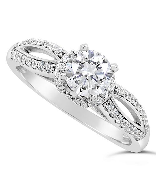 Macy's Certified Round Diamond Engagement Ring (1 ct. t.w.) in 14k White Gold, Rose Gold, or Yellow Gold