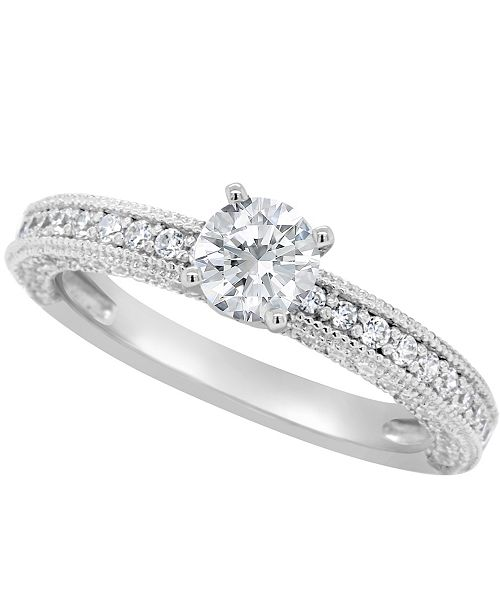 Macy's Certified Round Diamond Engagement Ring (1 1/5 ct. t.w.) in 14k White Gold, Rose Gold, or Yellow Gold