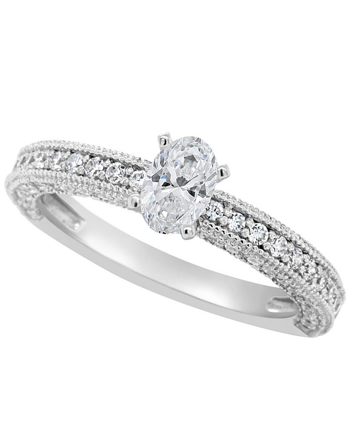 Macy's - Certified Oval Diamond Engagement Ring (1 1/5 ct. t.w.) in 14k White Gold, Rose Gold, or Yellow Gold