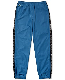 Lacoste Men's Tapered-Fit Croc-Taped Diamond Taffeta Track Pants
