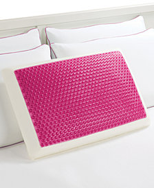 Comfort Revolution Breast Cancer Research Foundation Hydraluxe Cooling Gel & Memory Foam Standard Pillow