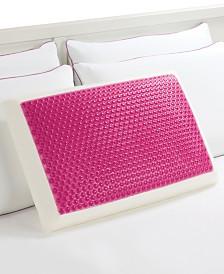 Comfort Revolution Pink Hydraluxe Cooling Gel & Memory Foam Standard Pillow