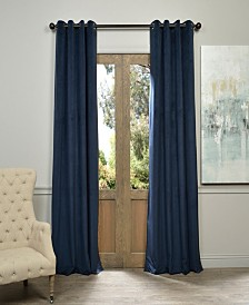 "Exclusive Fabrics & Furnishings Signature Grommet Blackout Velvet 50"" x 96"" Curtain Panel"