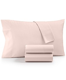 Whim By Martha Stewart Collection Cotton Blend 4-Pc. King Sheet Set, Created for Macy's