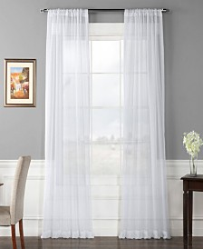 """Exclusive Fabrics & Furnishings Solid Voile Poly Sheer 50"""" x 84"""" Curtain Panel Pair"""