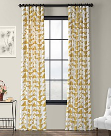"Exclusive Fabrics & Furnishings Triad Printed Cotton Twill 50"" x 96"" Curtain Panel"
