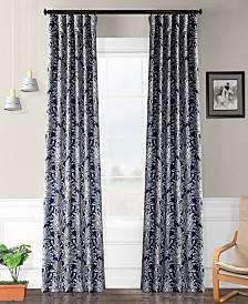 "Exclusive Fabrics & Furnishings Flora Blackout 50"" x 108"" Curtain Panel"