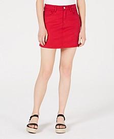 Juniors' Color-Wash Mini Skirt