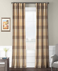 "Exclusive Fabrics & Furnishings Sutton Plaid 50"" x 120"" Curtain Panel"