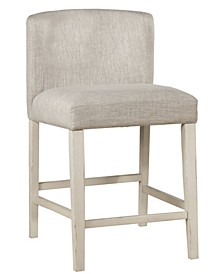 Clarion Non-Swivel Wing Arm Counter Height Stool