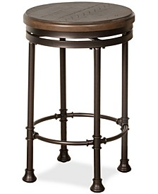 Casselberry Swivel Backless Round Counter Stool