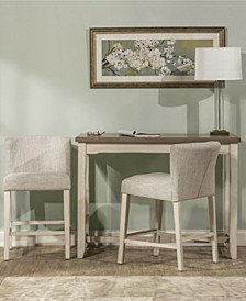 Clarion 3-Piece Counter Height Side Dining Set with Wing Arm Stools