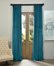 "Exclusive Fabrics & Furnishings Signature Blackout Velvet 50"" x 96"" Curtain Panel"
