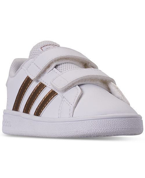 adidas Toddler Girls' Grand Court Casual Sneakers from Finish Line