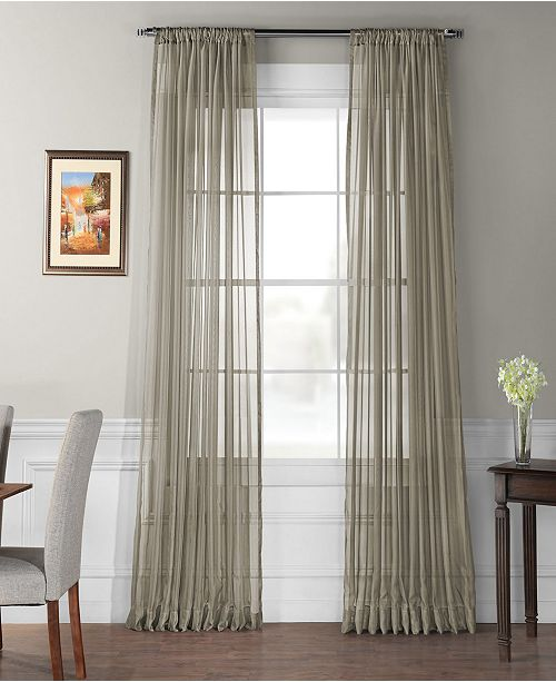 exclusive fabrics furnishings extra wide solid voile poly sheer 100 x 84 curtain panel reviews window treatments blinds macy s macy s