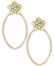 ZAXIE Baby Blooms Oblong Hoop Earrings