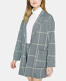 Oversized Plaid Blazer