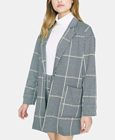 Sanctuary Oversized Plaid Blazer