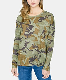 Carlee Camo Linen Long Sleeve T-Shirt