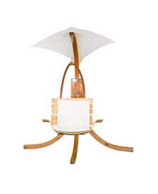 Leisure Season Swing Chair with Umbrella