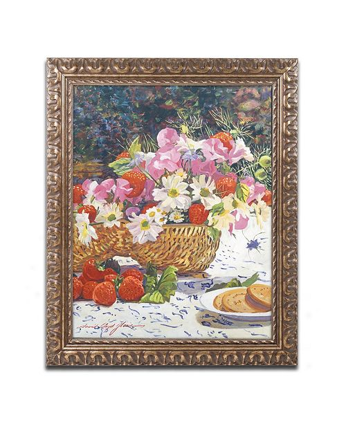 "Trademark Global David Lloyd Glover 'The Summer Picnic' Ornate Framed Art - 16"" x 20"""