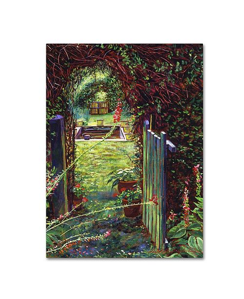 "Trademark Global David Lloyd Glover 'Wicket Garden Gate' Canvas Art - 35"" x 47"""