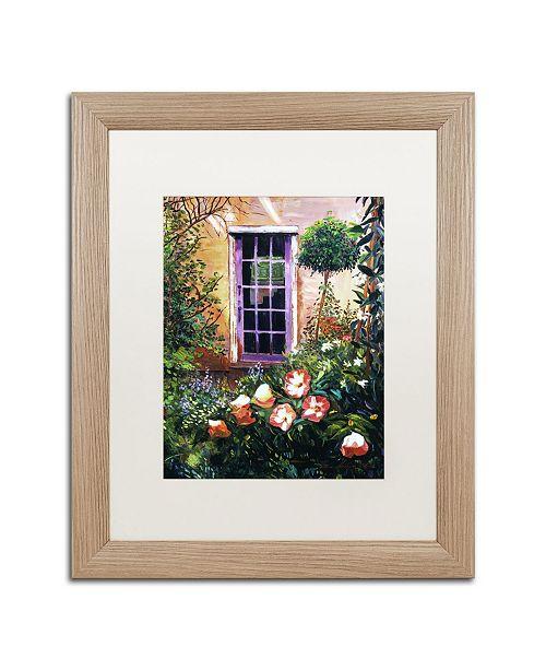 "Trademark Global David Lloyd Glover 'Tuscany Villa Garden' Matted Framed Art - 16"" x 20"""