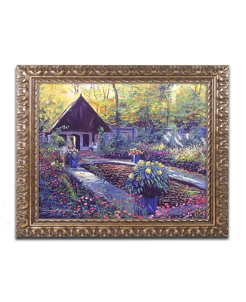"Trademark Global David Lloyd Glover 'Blue Garden Impression' Ornate Framed Art - 16"" x 20"""