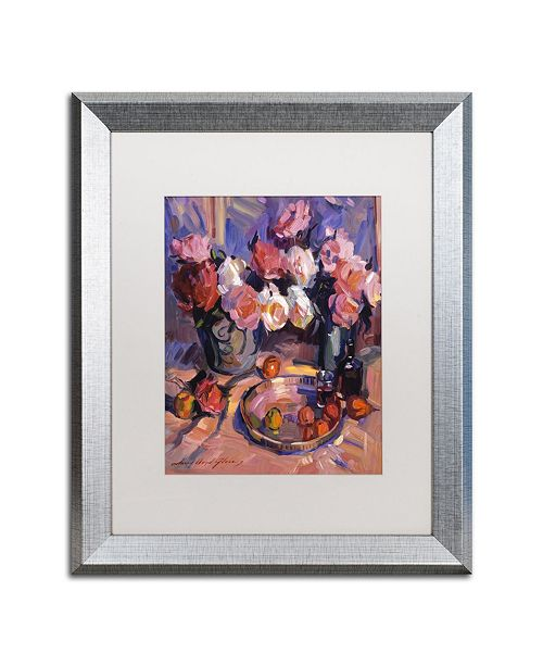 "Trademark Global David Lloyd Glover 'Still Life Apres Manet' Matted Framed Art - 16"" x 20"""