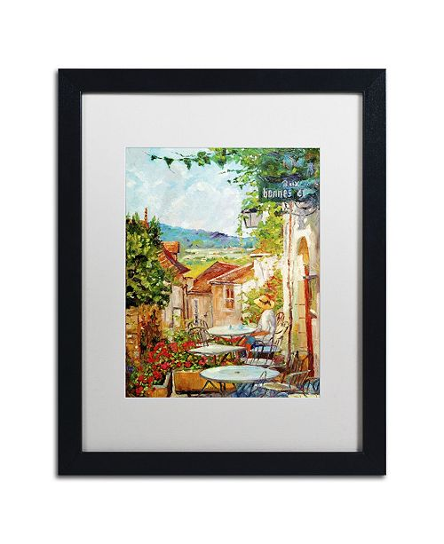 "Trademark Global David Lloyd Glover 'Provence Cafe Morning' Matted Framed Art - 16"" x 20"""