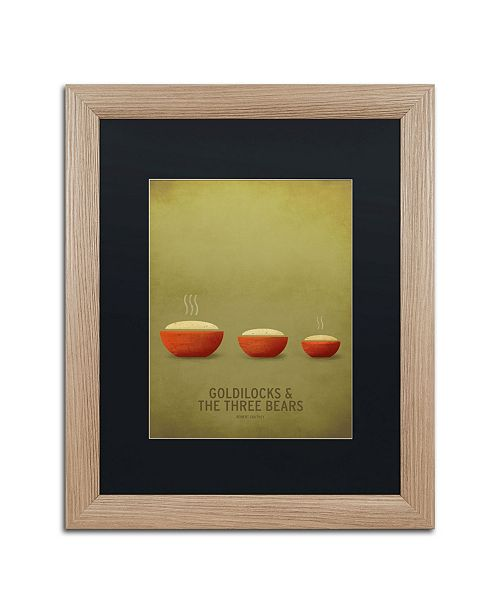 """Trademark Global Christian Jackson 'Goldilocks' Matted Framed Art - 16"""" x 20"""""""