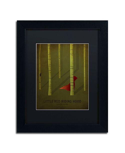 "Trademark Global Christian Jackson 'Red Riding Hood' Matted Framed Art - 11"" x 14"""