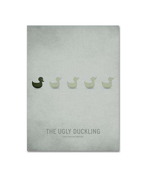 "Trademark Global Christian Jackson 'Ugly Duckling' Canvas Art - 14"" x 19"""
